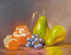 alte Picturi Natura statica cu portocala struguri si pere