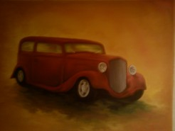 alte Picturi Red car