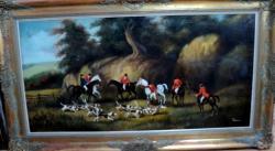 alte Picturi La vanatoare cu caini
