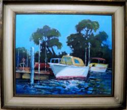 alte Picturi Lac cu barci