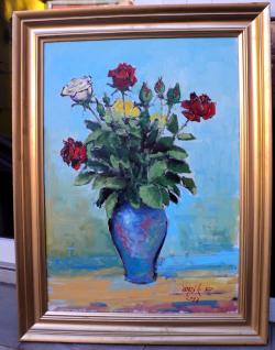 alte Picturi Vaza Trandafiri