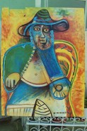 alte Picturi Old man ,reproduction after picasso