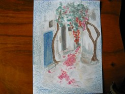 alte Picturi Strada in grecia