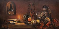 alte Picturi Natura Statica cu Fructe si Lumanare