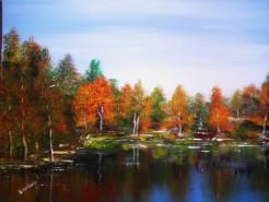alte Picturi Toamna pe lac