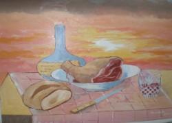 alte Picturi Apus de soare cu jambon 1