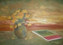 alte Picturi Apus de soare cu narcise