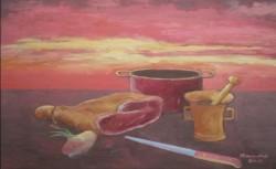 alte Picturi Apuse de soare cu jambon