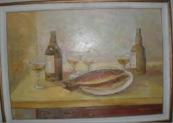 alte Picturi Caras cu pahare si sticle