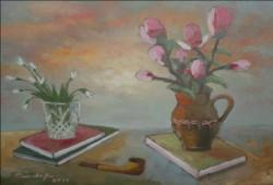 alte Picturi Magnolii cu ghiocei
