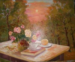 alte Picturi trandafiri si copaci