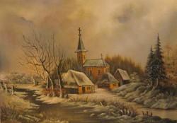 alte Picturi Iarna in sat