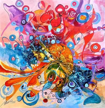 oil on canvas, size, signed E.Bissinger