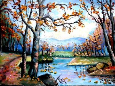 pictura pe panza in ulei