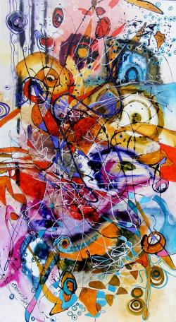 Picturi abstracte/ moderne Bancul cu ele