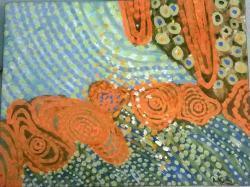 Picturi abstracte/ moderne camp cu flori