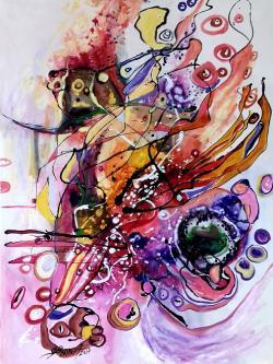 Picturi abstracte/ moderne Cu ochii pe r