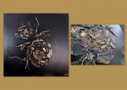 Picturi abstracte/ moderne GOLDEN ROSES