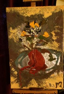 Picturi abstracte/ moderne Inima inflori