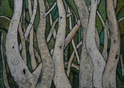 Picturi abstracte/ moderne Primavara in