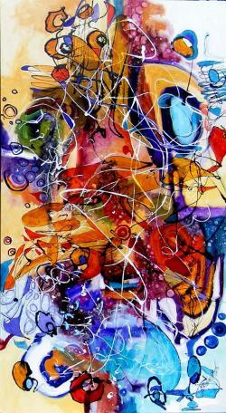 Picturi abstracte/ moderne Unde timpul i
