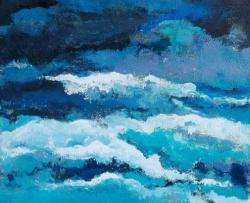 Picturi abstracte/ moderne Valuri de alb