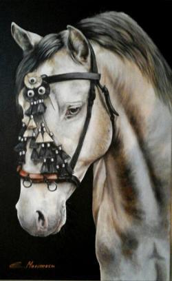 Picturi cu animale pictura cu un cal fru