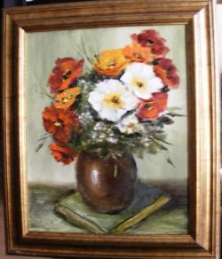 Picturi cu flori Aranjament literar-flor