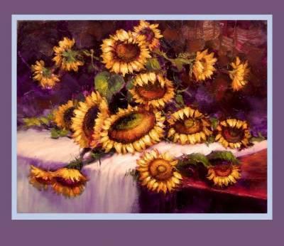 Picturi cu flori Buchet cu floarea soare