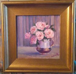 Picturi cu flori Ceșcuță cu trandafir