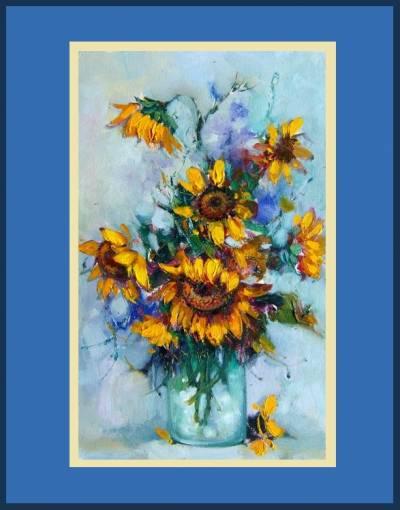 Picturi cu flori Floarea-soarelui 7