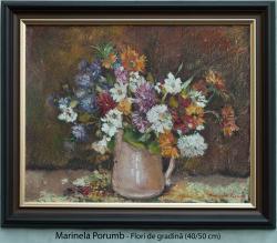 Picturi cu flori Flori de gradina in vaz