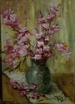 Picturi cu flori Flori de mar in vas ver