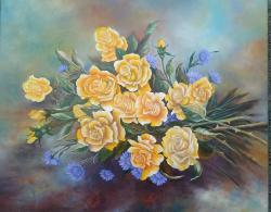 Picturi cu flori Flori de nu ma uita cu