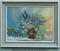 Picturi cu flori Flori de Nu Ma Uita (pe