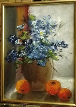 Picturi cu flori Flori de primavara in f