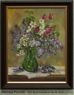 Picturi cu flori Flori de primavara in v