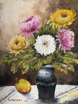 Picturi cu flori Flori de toamna:crizant