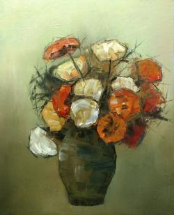 Picturi cu flori flori in ulcica E.S. 20