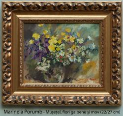 Picturi cu flori Musetel, flori galbene