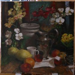 Picturi cu flori Natura statica cu orhid