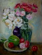 Picturi cu flori Natura statica cu pepen