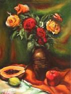 Picturi cu flori Natura statica cu trand
