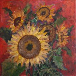 Picturi cu flori Poem cu floarea soarelu