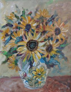 Picturi cu flori Raze de soare in natura