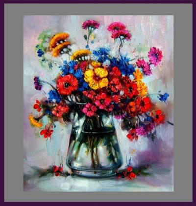 Picturi cu flori Romance