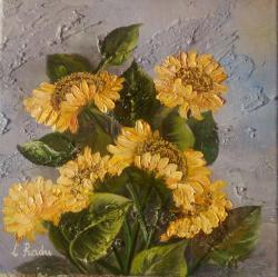 Picturi cu flori Singure flori in raza s