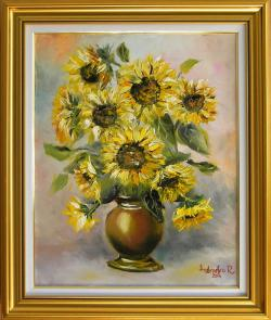 Picturi cu flori SURAS DE FLOAREA SOAREL