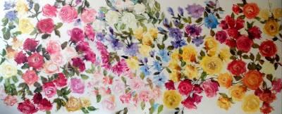 Picturi cu flori T Curcubeu
