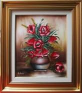 Picturi cu flori Tablou cu rama maci in
